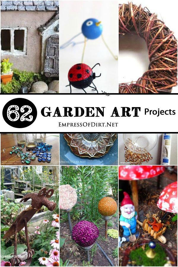 50 Creative + Recycled Garden Art Projects | Empress of Dirt #gartenrecycling
