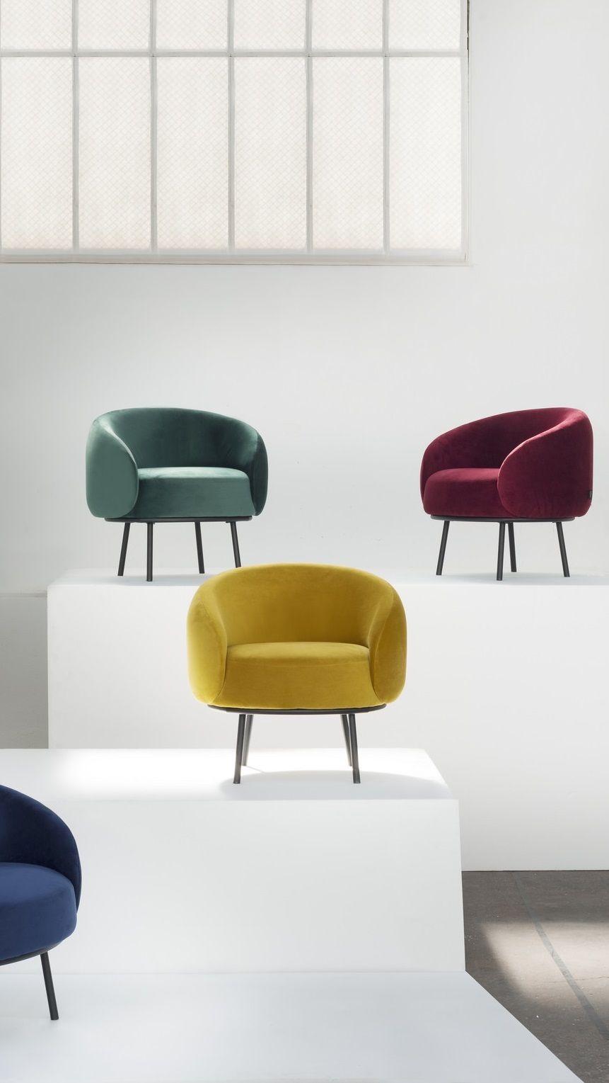 cajou fauteuil en velours jaune