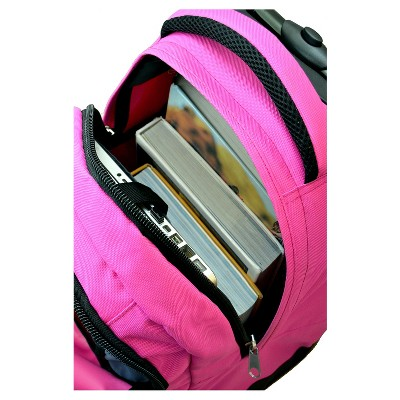 NHL Mojo Buffalo Sabres Wheeled Backpack - Pink