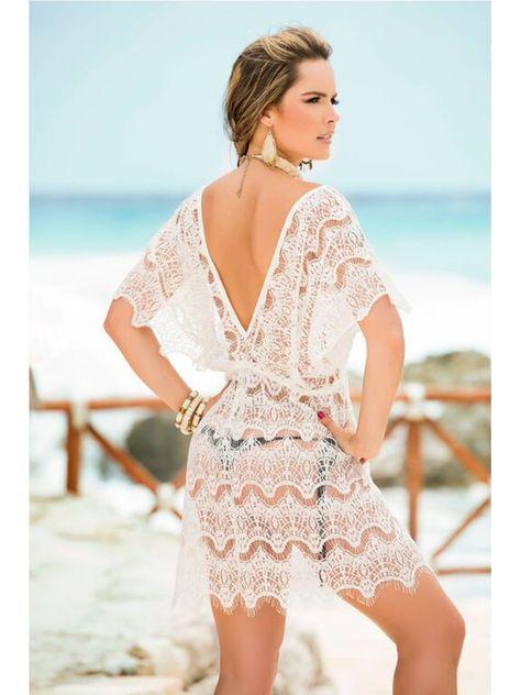 5f6e97b78165 Salida de Baño - VamosdeCompras | Blanco, white, Blanc | Swimwear ...