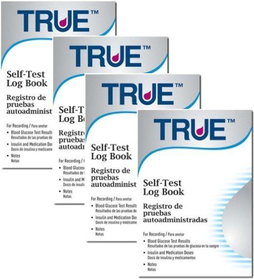 TRUE Diabetic Self-Test Log Book , Pack of 4 #ad DIABETES PRODUCTS
