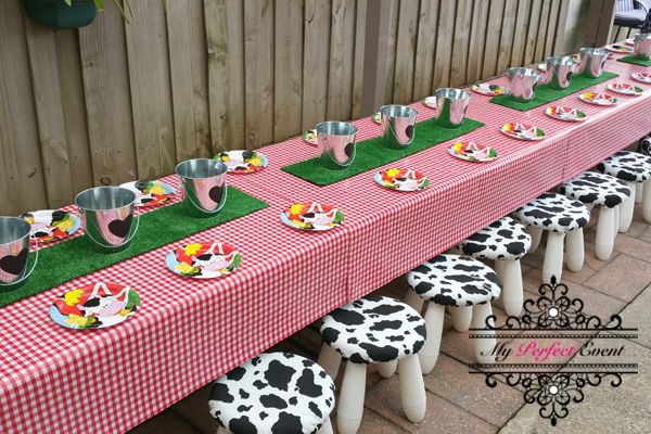 Cowboy Birthday Party Table And Settings For Hire In Melbourne - Children's birthday parties melbourne