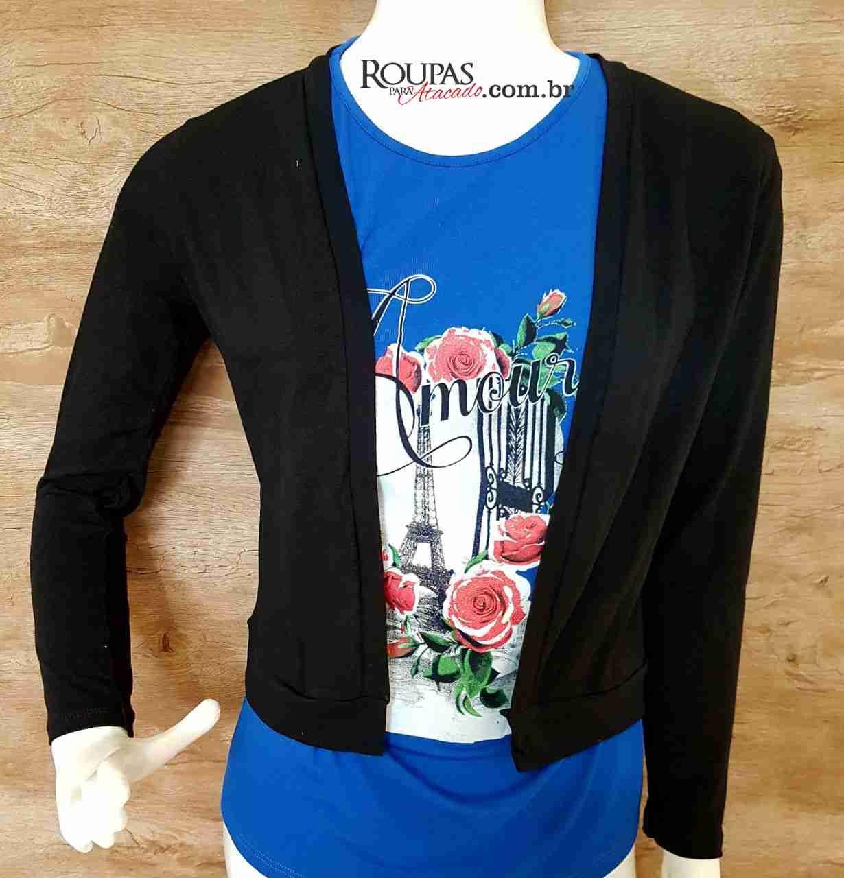 a0b1b89d43 casaco feminino no atacado blusa manga longa lisa cotton