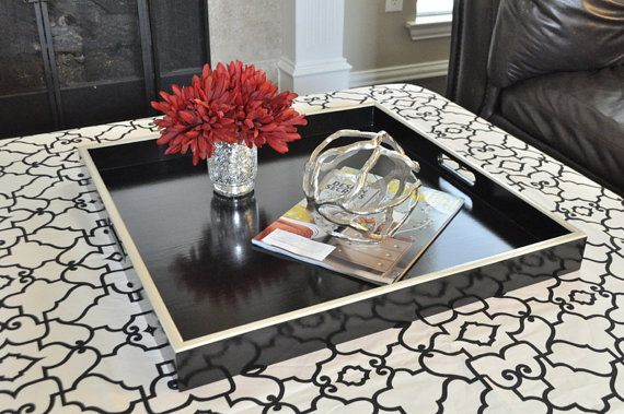 32 34 Or 36 Square Extra Large Ottoman Tray By Loveitupdecor