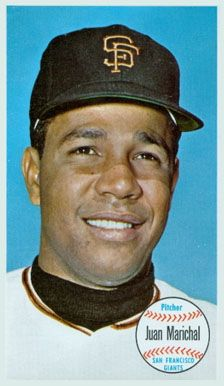 Topps Giant Baseball Cards 1964 Complete Set 1964 Topps Giants Juan Marichal 37 Baseball Card