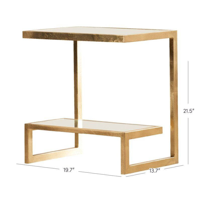 Rex Glass Top Sled End Table With Storage End Tables With Storage End Tables Small Balcony Decor
