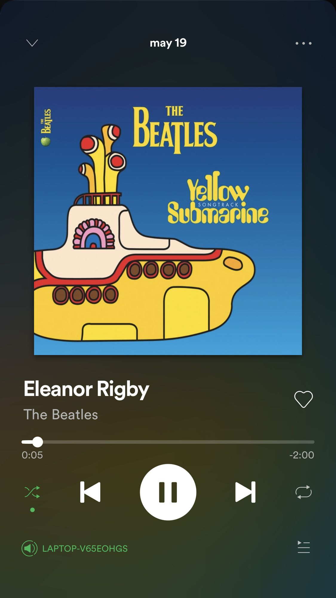 Aesthetic Yellow Spotify Icon