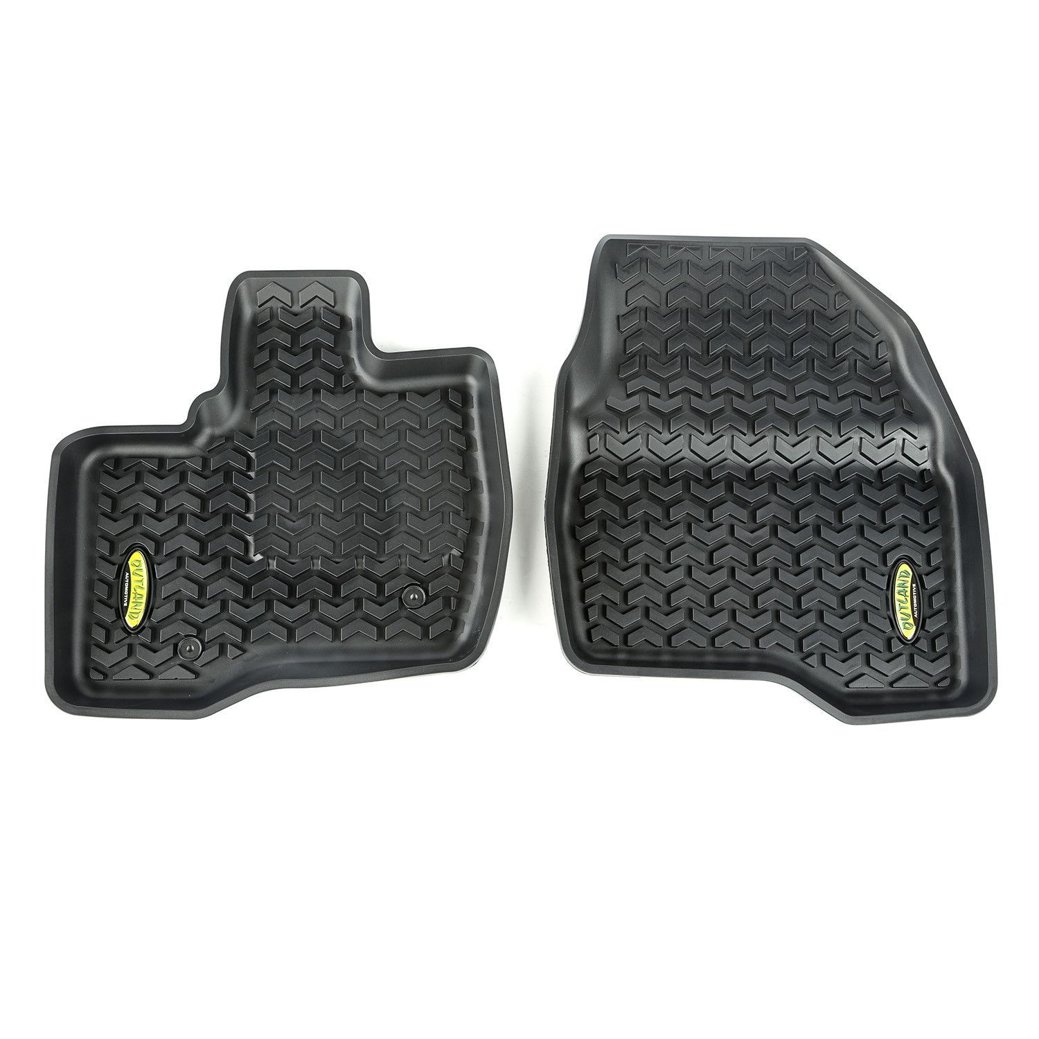 Floor Liners, Front, Black; 11-14 Ford Explorer