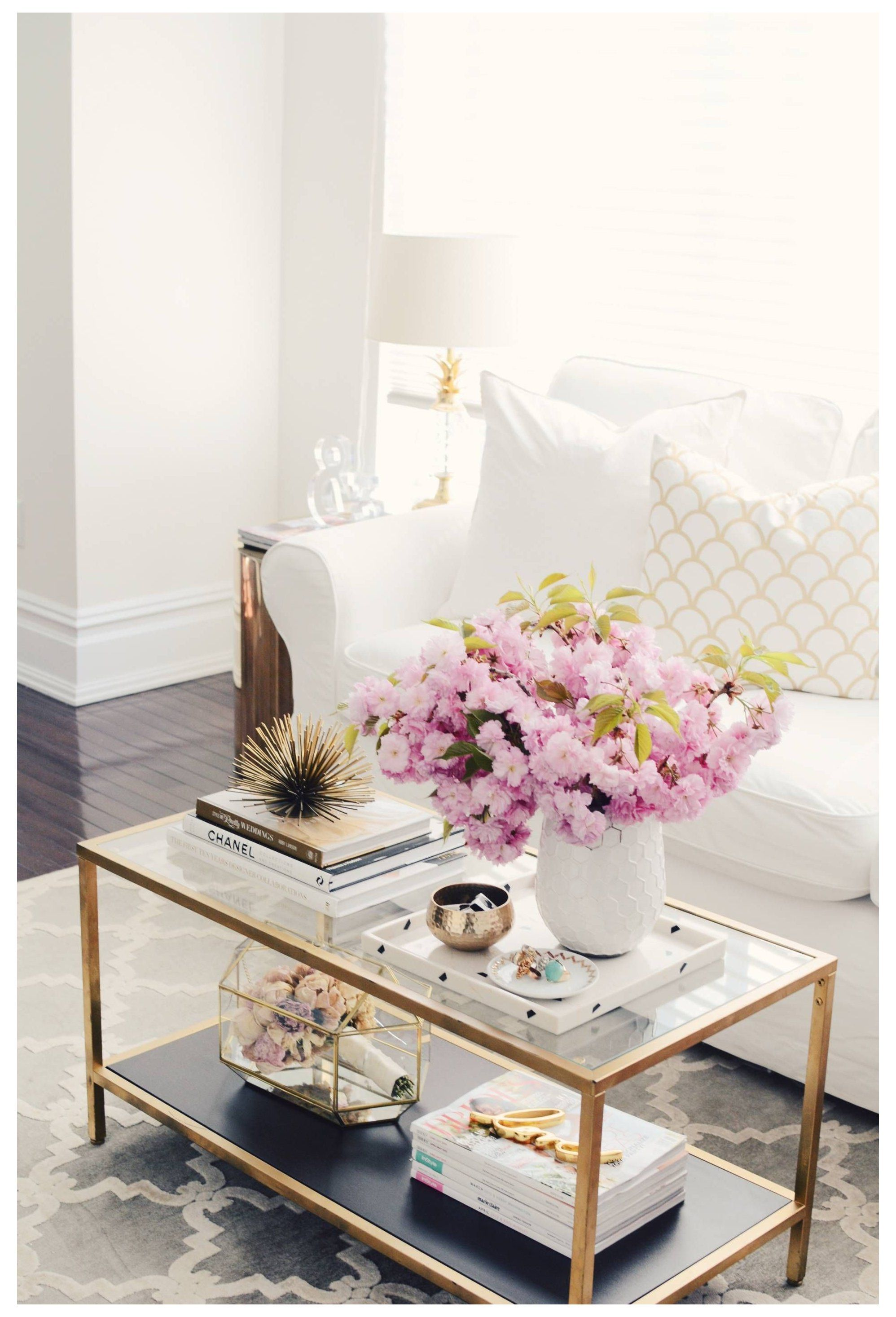 under glass coffee table decor