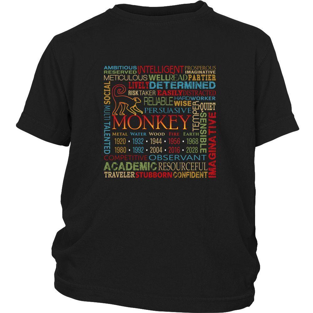 Chinese Zodiac Monkey - Youth Short Sleeve T-Shirt