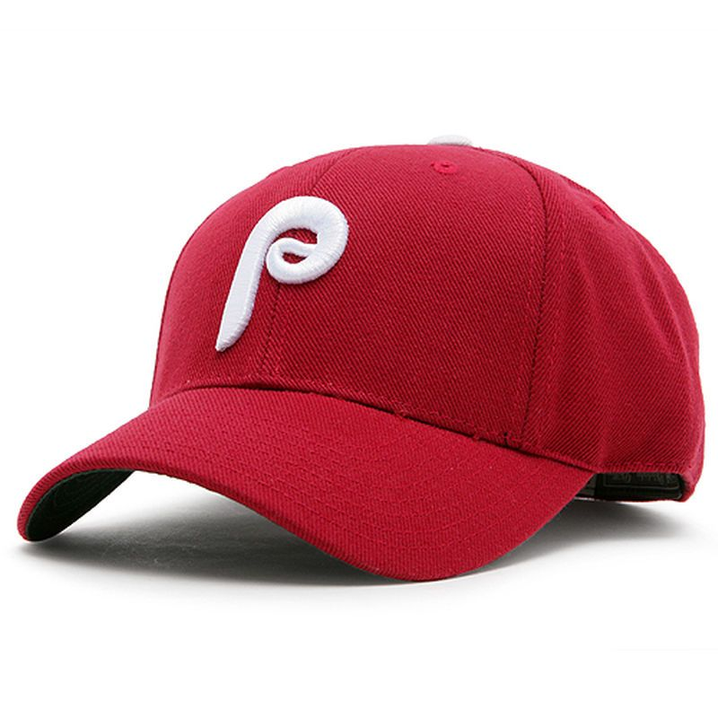 Philadelphia Phillies Maroon 1980 Throwback Cooperstown Fitted Hat ... 36ef44321a4b