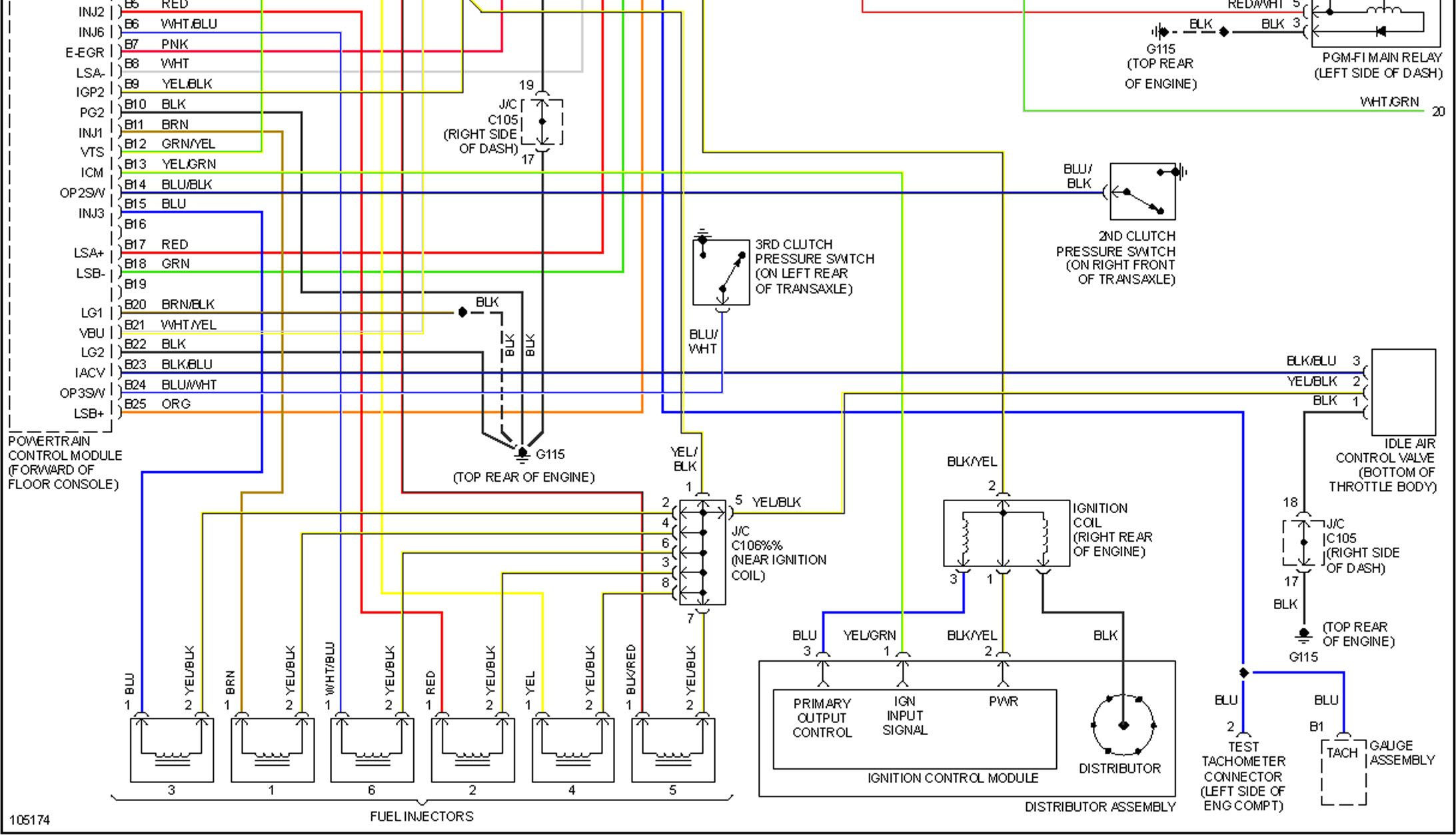 1998 Honda Accord Wiring Diagram Throughout 98 Honda Accord Diagram Honda