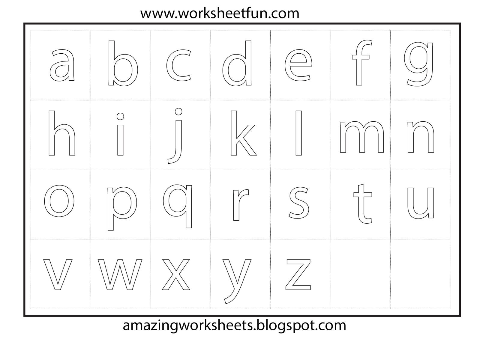 44 Info A Z Colouring Worksheets Download Printable