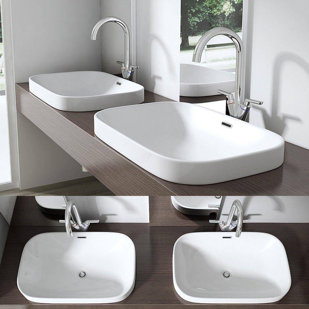 design einbauwaschbecken br ssel5082 aus keramik eckige form bad pinterest. Black Bedroom Furniture Sets. Home Design Ideas