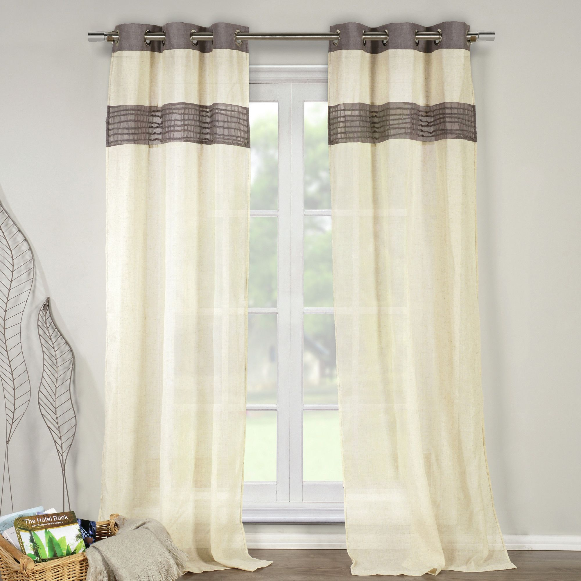 Dining room window coverings  dr international rhett curtain panel u reviews  wayfair  home