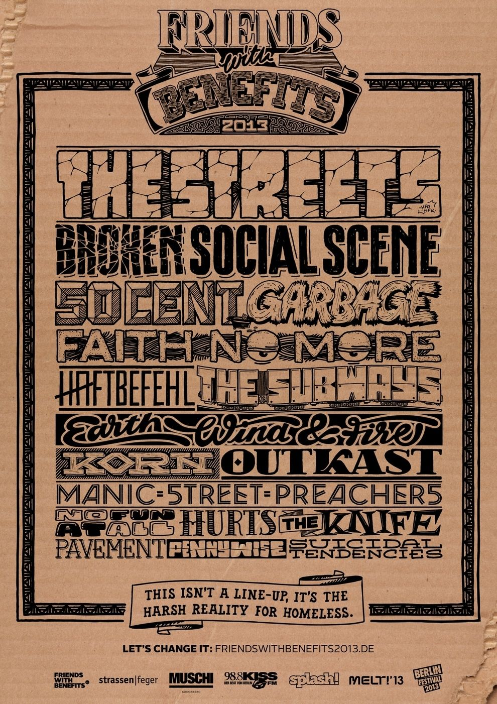 This Cool Concert Poster Isn T What It Seems Concert Posters Friends With Benefits Good Advertisements