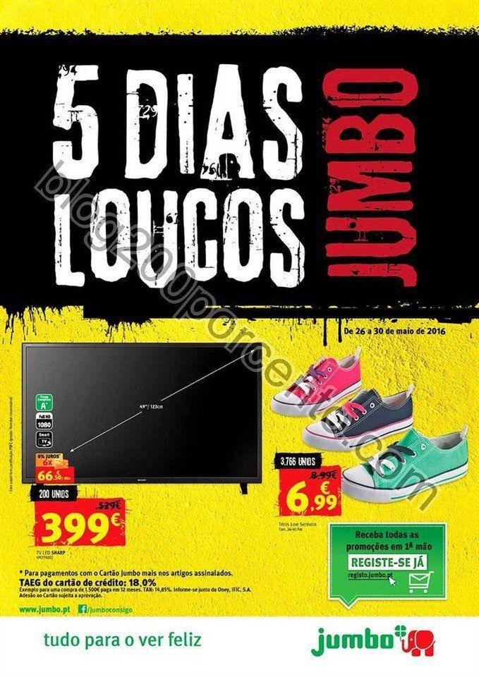 Antevisão Folheto JUMBO Extra 5 dias loucos promoções de 26 a 30 maio - http://parapoupar.com/antevisao-folheto-jumbo-extra-5-dias-loucos-promocoes-de-26-a-30-maio/
