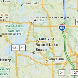 Map Of Grayslake IL Grayslake Illinois Hotels Restaurants - Airports in illinois