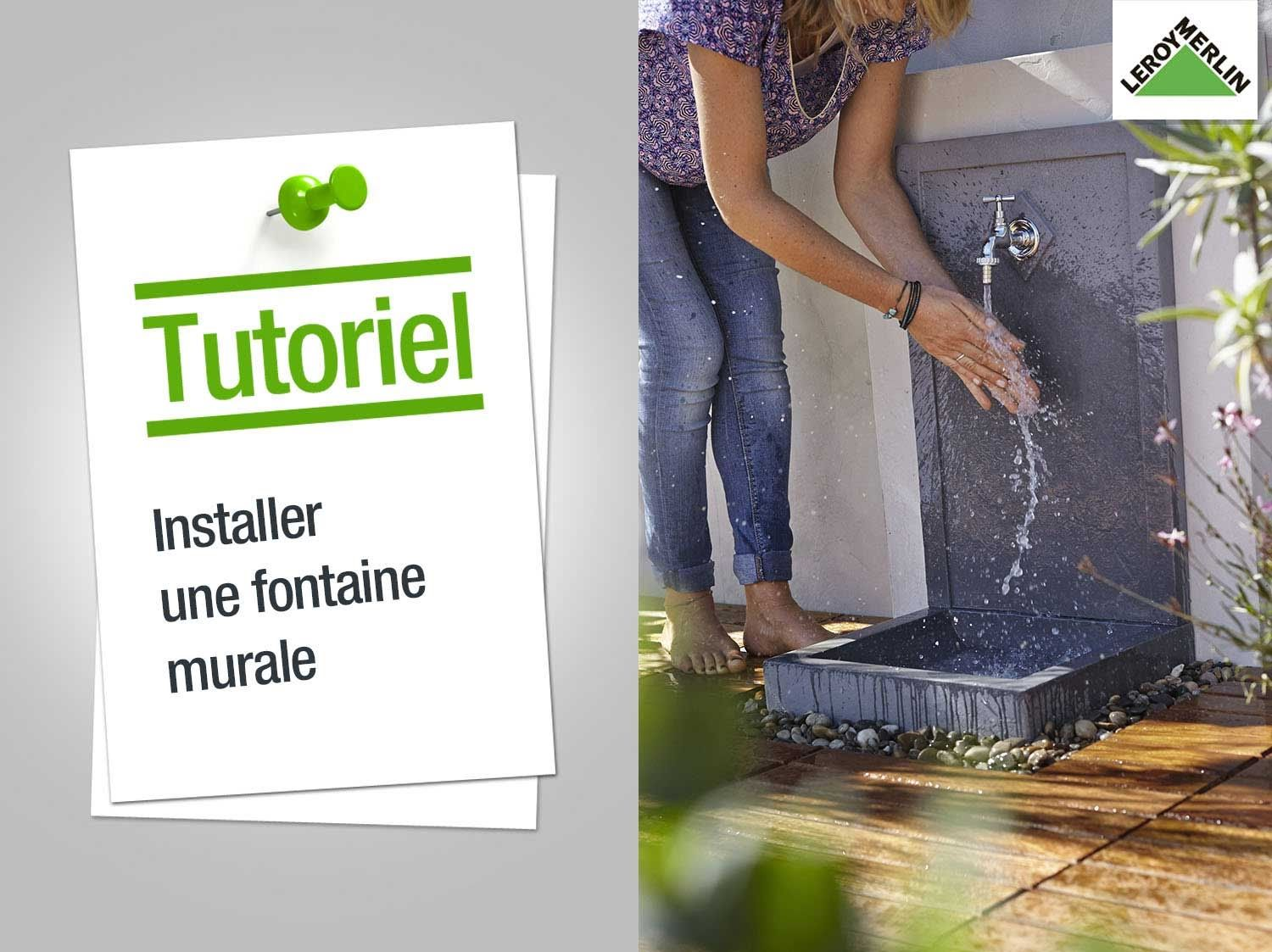 Comment installer une fontaine murale ?