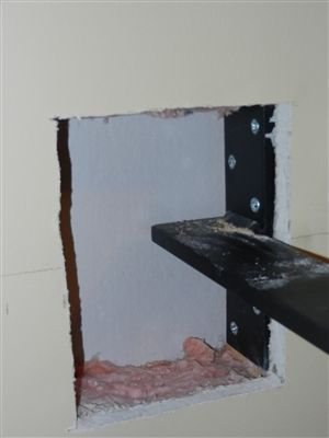 Floating Countertop Support Bracket Wall Mount Hidden