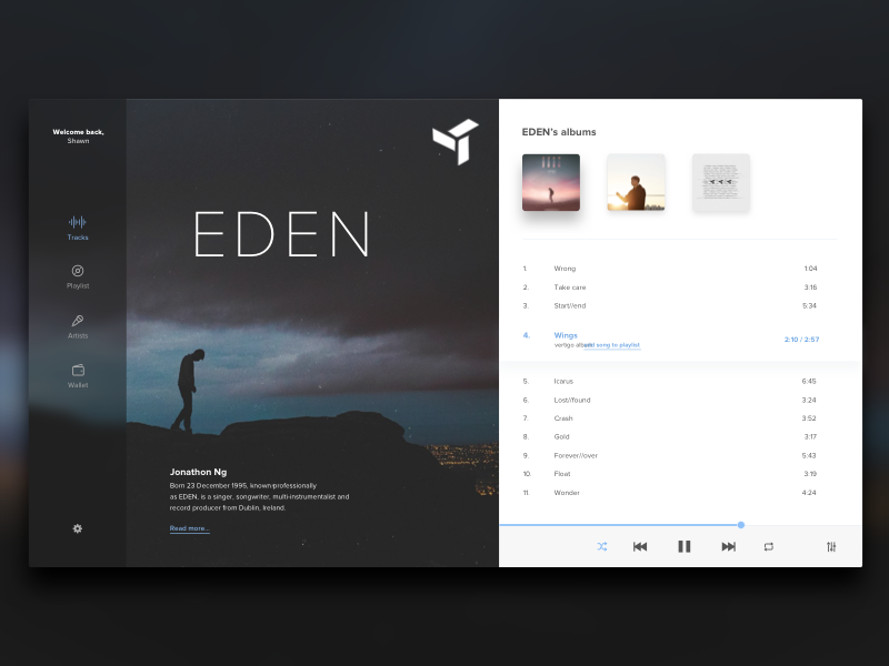 Music player | Dribbble / ui