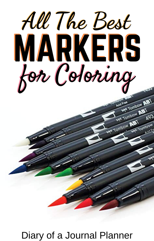 Best Markers For Coloring Books And Pages (2020) Mindfulness Colouring, Coloring  Books, Hand Lettering Worksheet