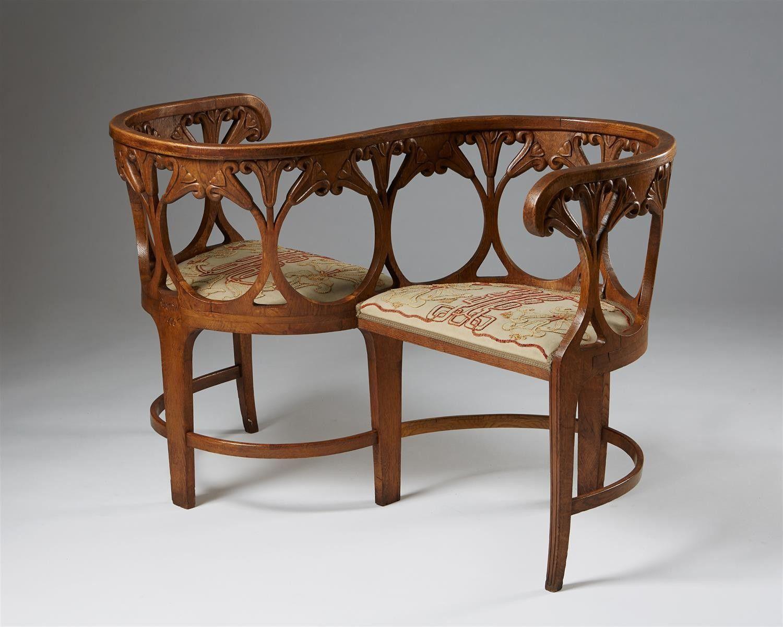 Tete A Tete Sofa Designed By Alf Wallander For Giobbel S Workshop