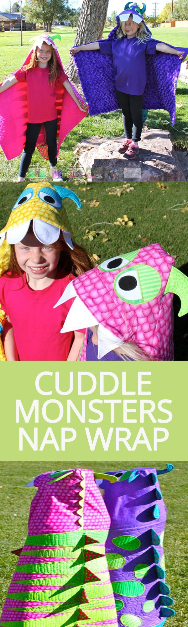 Cuddle Monsters Nap Wrap | National Sewing Circle http://www.nationalsewingcircle.com/product/cuddle-monsters-nap-wrap/?utm_content=buffere4436&utm_medium=social&utm_source=pinterest.com&utm_campaign=buffer #LetsSew