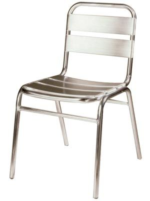 All Weather Stacking Side Chair By Beaufurn.