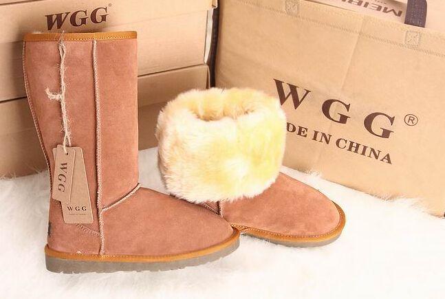 Barato Botas de neve WGG alta qualidade mulheres de salto Botas genuíno  couro de vaca sapatos de inverno Botas Femininas tamanho grande 40 45 006a27cfa6bff