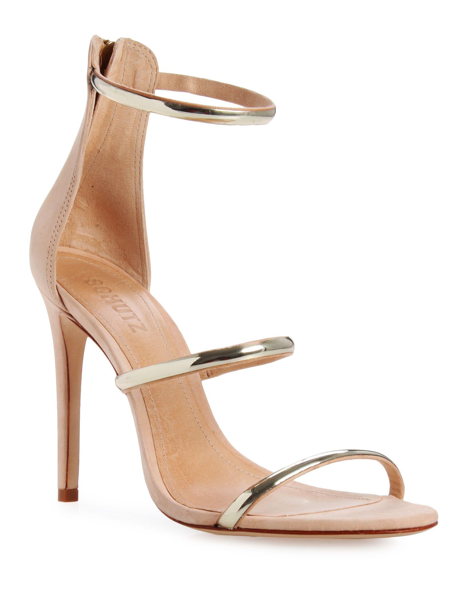 4d4829ee7 Sandália salto alto strap - nude schutz | shoes Schutz | Shutz ...