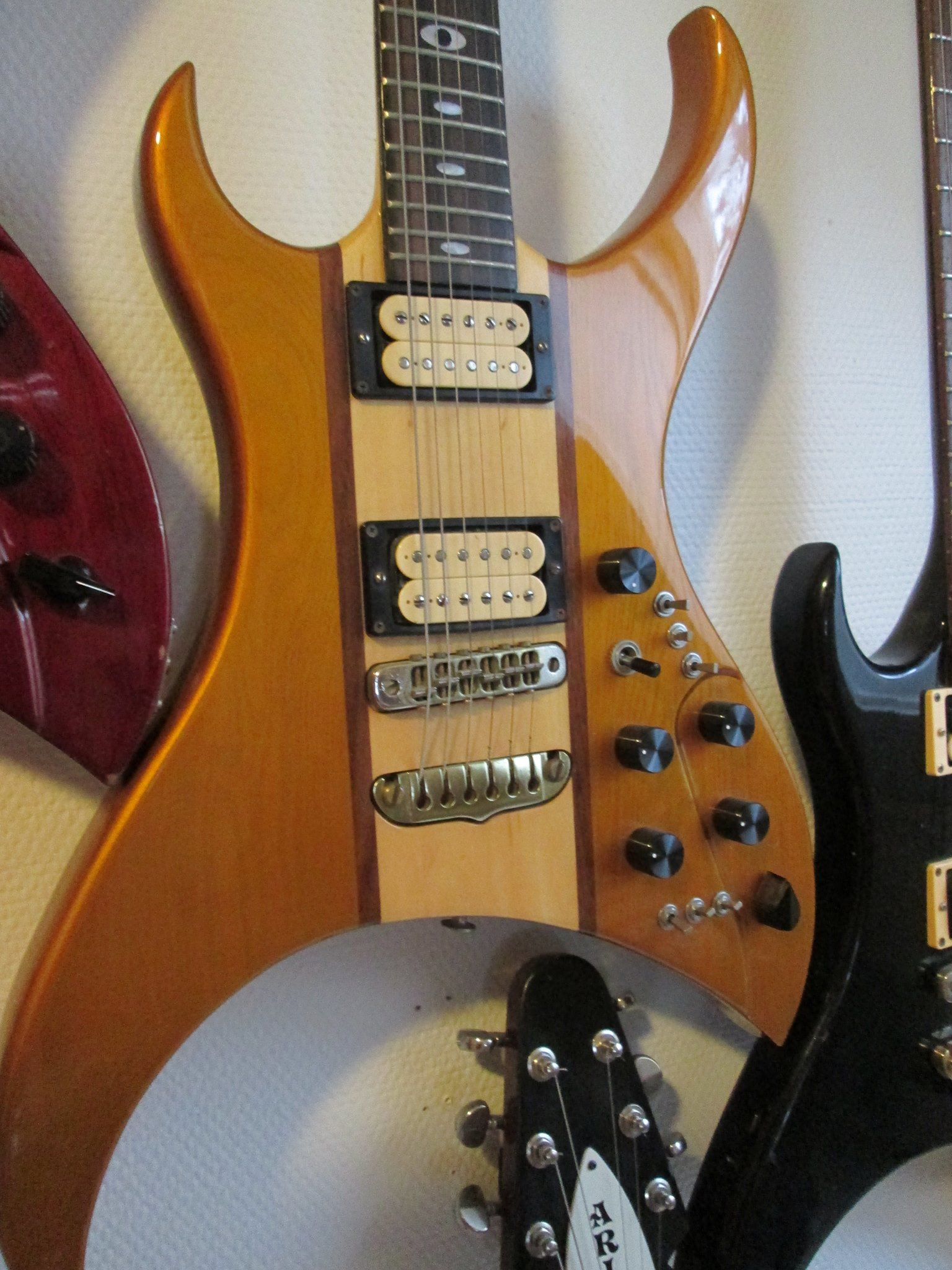 1982 Aria Pro Ii U100 Urchin My Guitar File Pinterest Pin Electric Pickup Wiring Diagrams On Cool Rack Music Instruments Acoustic