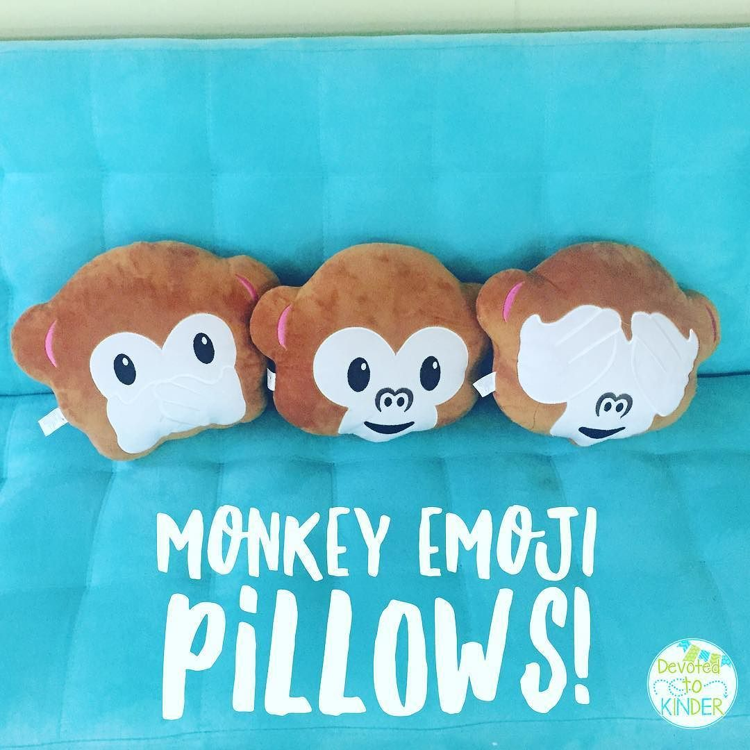 I scored these awesome monkey emoji pillows for each perfect