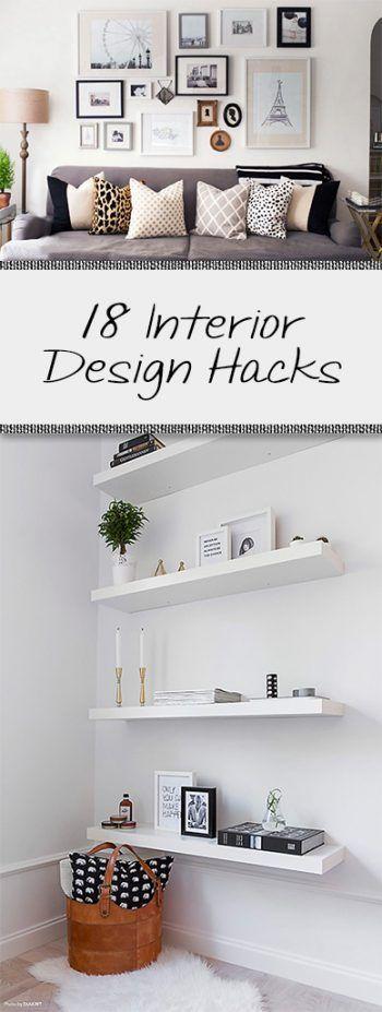 18 Interior Design Hacks • Organization Junkie #interiordesigntips
