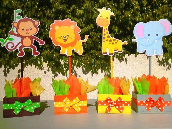 Jungle Safari Baby Shower Birthday Centerpieces Do It Yourself