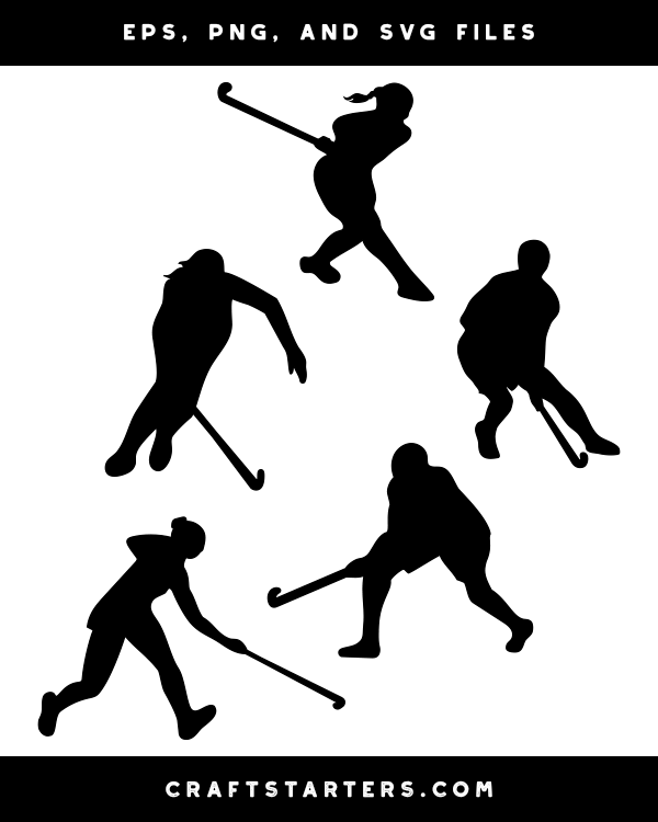 Field Hockey Player Silhouette Clip Art In 2020 Field Hockey Silhouette Clip Art Clip Art
