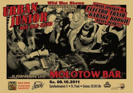 Urban Junior One Man Band gig poster (2011)