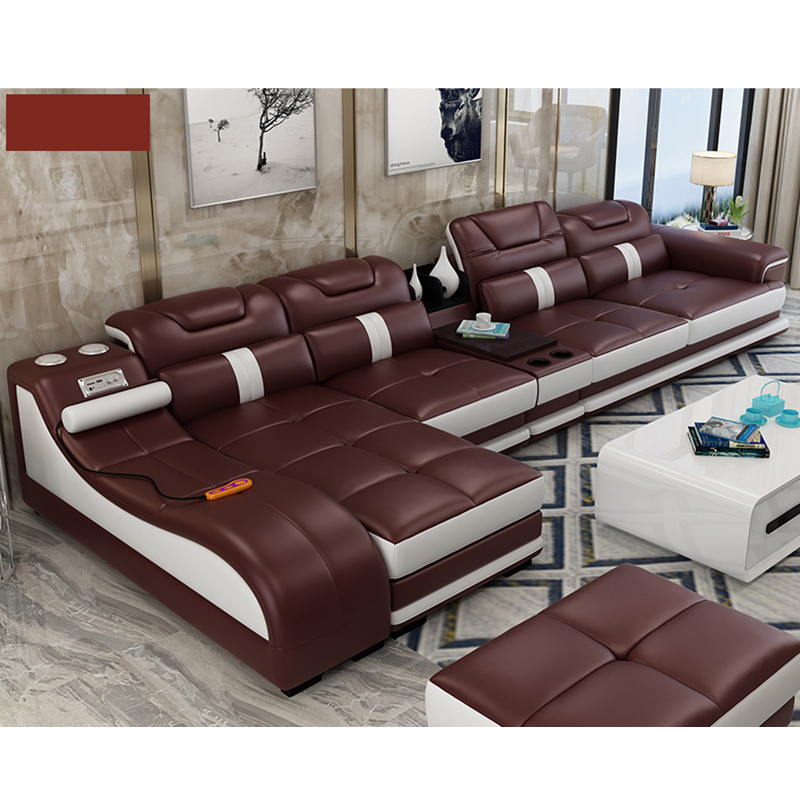 Dernier Salon Chaise Longue Design Inclinable Canape En Cuir Marron Find Complete Details About In 2020 Living Room Sofa Set Leather Sectional Sofas Living Room Sofa