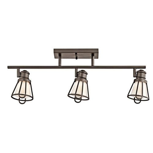 Kichler Track Lighting Kitchen track lighting saddler adjustable three light olde bronze flush and semi flush ceiling lighting at bellacor audiocablefo