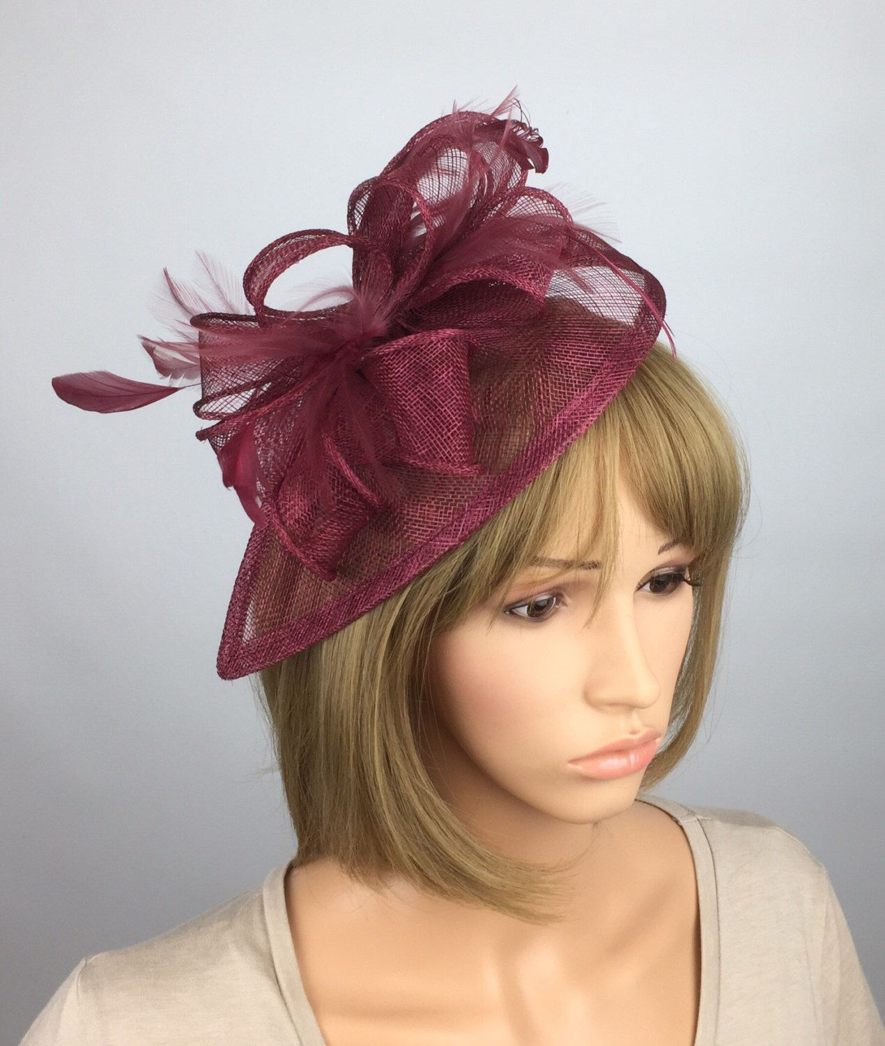 0970f92460f11 Excited to share the latest addition to my  etsy shop  burgundy Fascinator