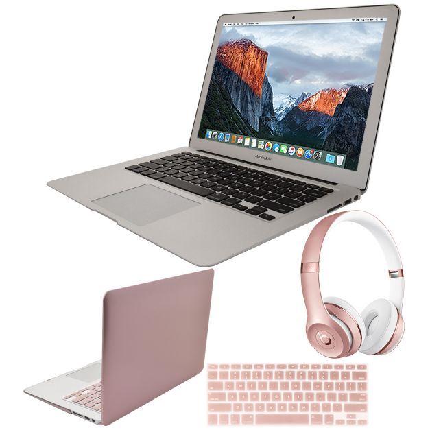 """2017 Apple Macbook Air 13"""" 126GB Beats Solo3Bundle - QVC.com"""