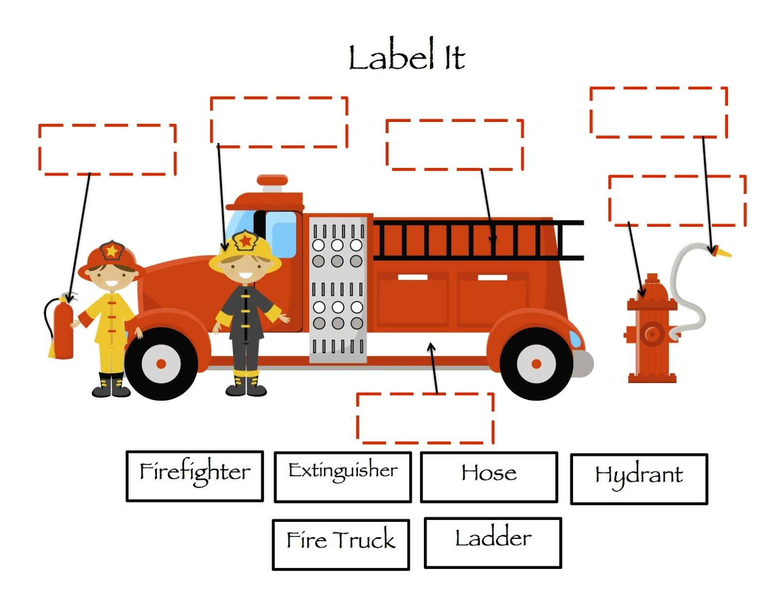 Fireman Preschool Face Worksheet Fireman Best Free
