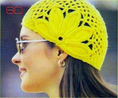 Crochet+y+dos+agujas:+Gorro+tejido+al+crochet+-+con+patrón+y+ ...