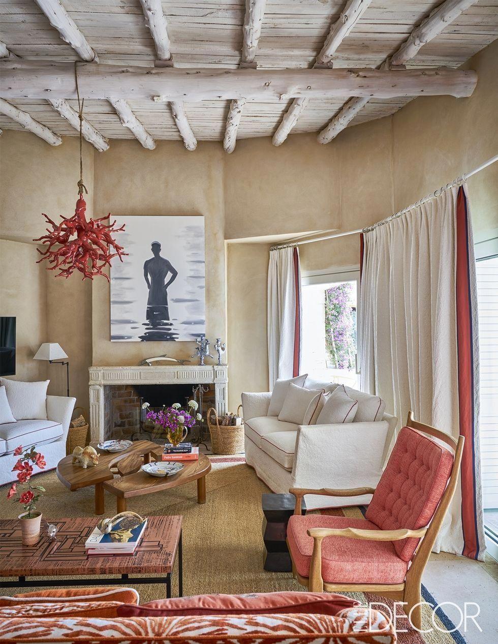 Petite Coastal Fireplace Elledecor Com Coastallivingrooms Curtains Living Room Dining Room Curtains Stylish Living Room