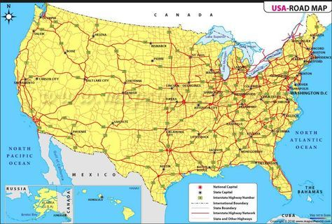 US Road Map Maps Of History Pinterest Usa Road Map - Usa road atlas