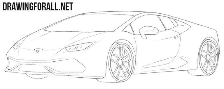 Lamborghini Huracan Drawing Tutorial Lamborghini Huracan Lamborghini Car Design Sketch