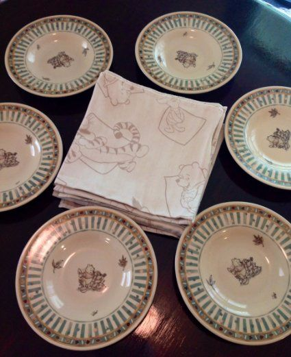 Dishes Dinnerware Utensils Plates Dish & Pin by Elizabeth Phillips on Decor: Winnie the Pooh | Pinterest