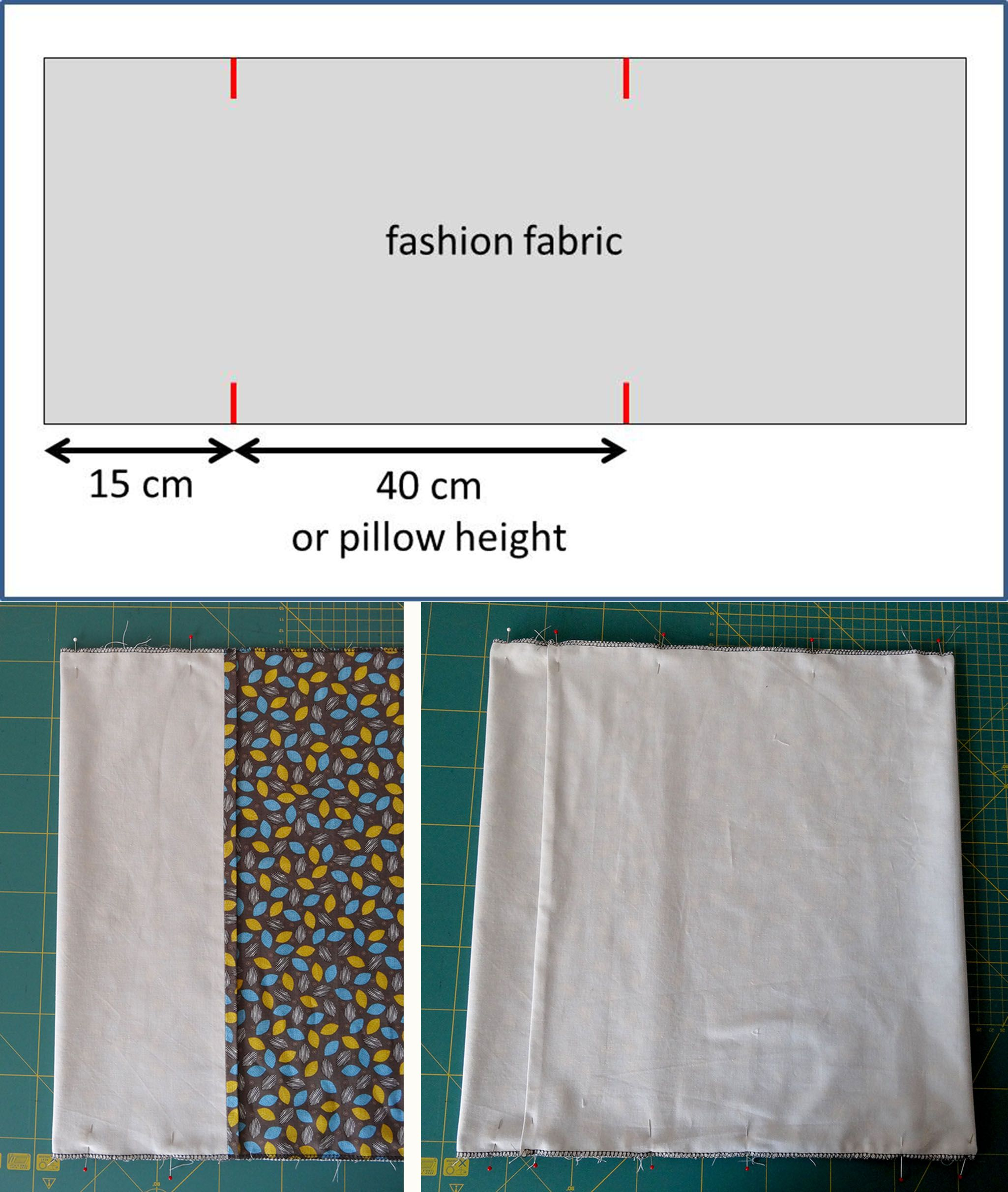 Tutorial Lined Pillow Case With Envelope Closure Sewing