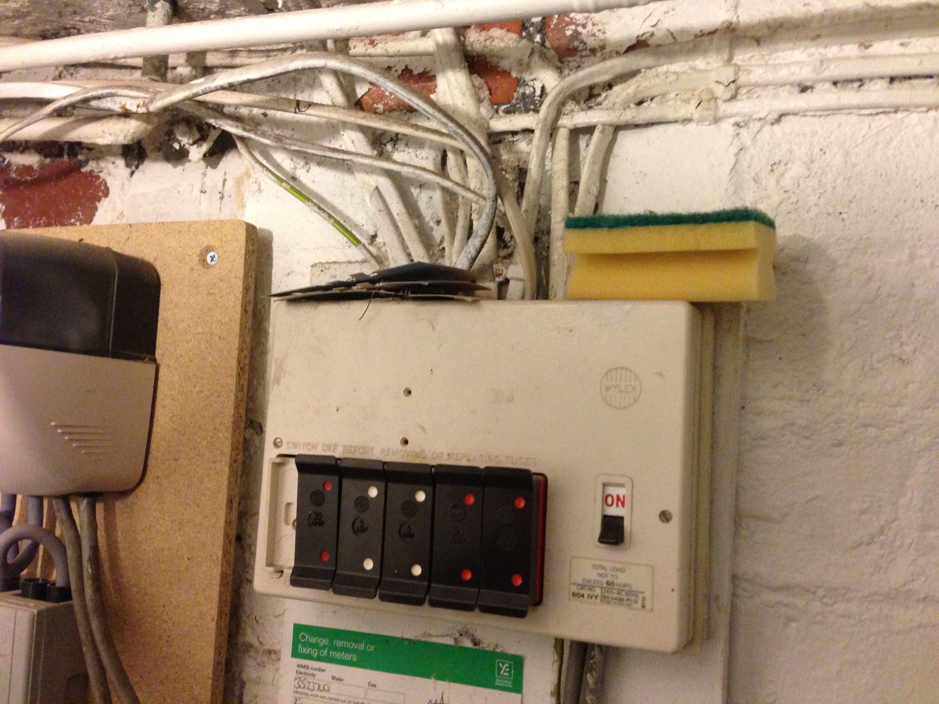 New electrical fuse board or consumer unit Sheffield UK. A job to replace  this old