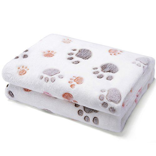Dog Blanket Super Soft Mat 2 Pack Fluffy Lightweight Washable Fuzzy Fleece Pet Blankets for Puppy Cats Small Dogs Indoor